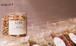 I made a custom body scrub with Lore Perfumery's Custom Soak & Scrub Station...