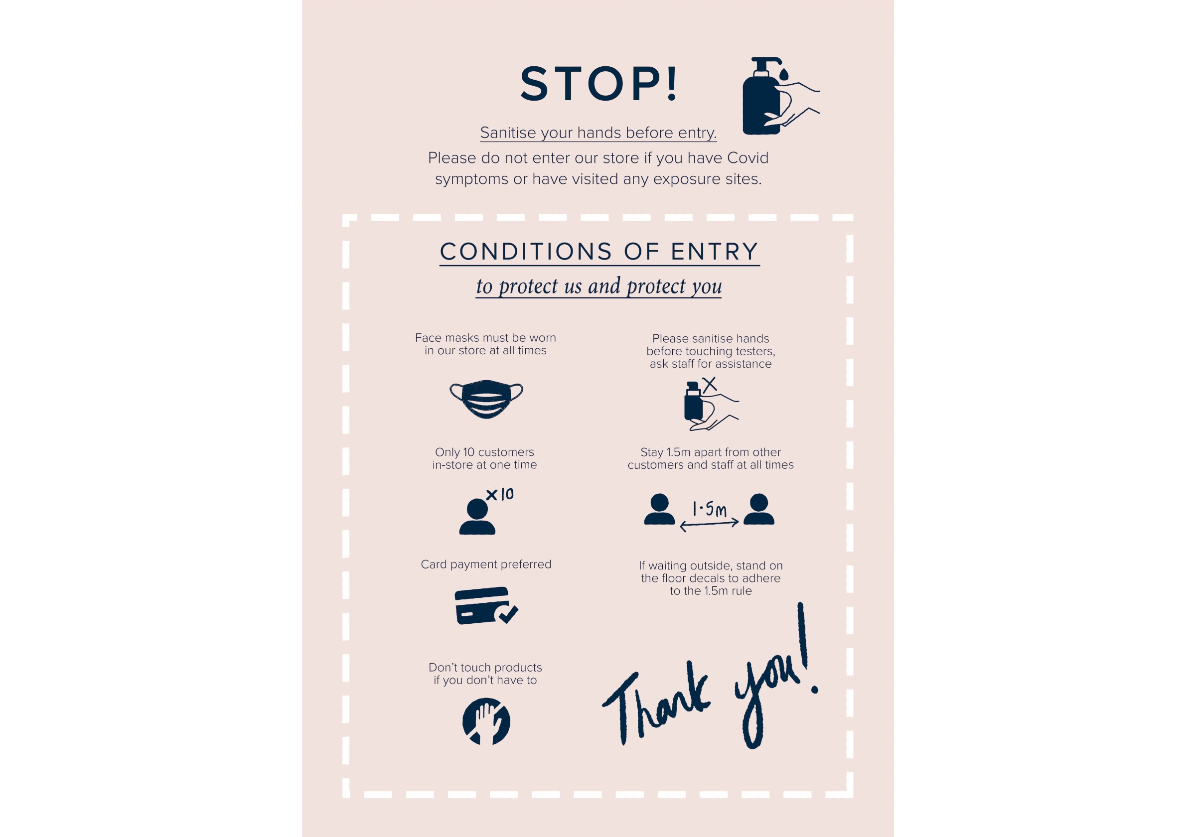 Lore Perfumery Covid Safety Sign